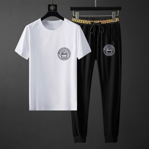 Versace Tracksuits Short Sleeved O-Neck For Men #792094 $65.96 USD, Wholesale Replica Versace Tracksuits
