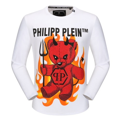 Philipp Plein PP T-Shirts Long Sleeved O-Neck For Men #792334