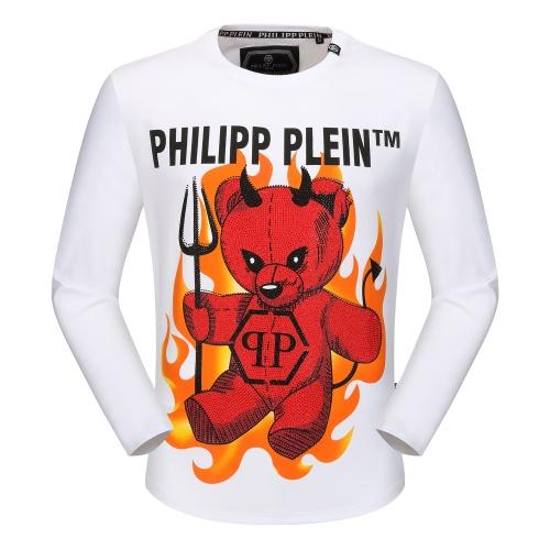 Philipp Plein PP T-Shirts Long Sleeved O-Neck For Men #792334