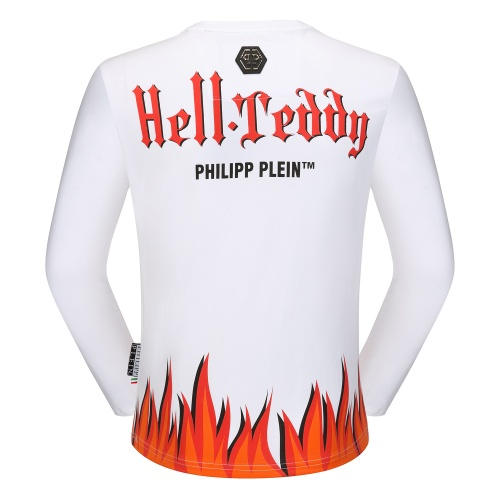 Replica Philipp Plein PP T-Shirts Long Sleeved O-Neck For Men #792334 $31.04 USD for Wholesale