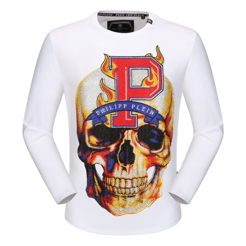 Philipp Plein PP T-Shirts Long Sleeved O-Neck For Men #792335
