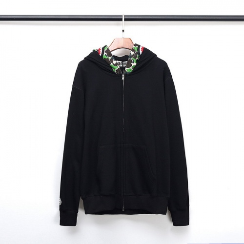 Replica Bape Hoodies Long Sleeved Zipper For Men #792730 $54.32 USD for Wholesale