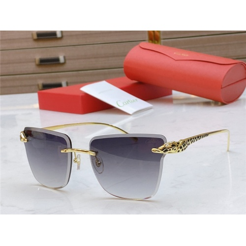 Cartier AAA Quality Sunglasses #793366