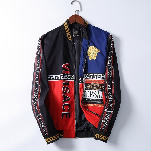 Versace Jackets Long Sleeved Zipper For Men #793415 $50.44, Wholesale Replica Versace Jackets