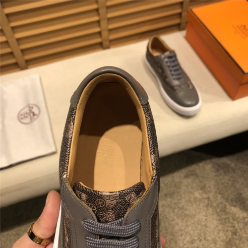 Replica Hermes Casual Shoes For Men #793603 $98.94 USD for Wholesale