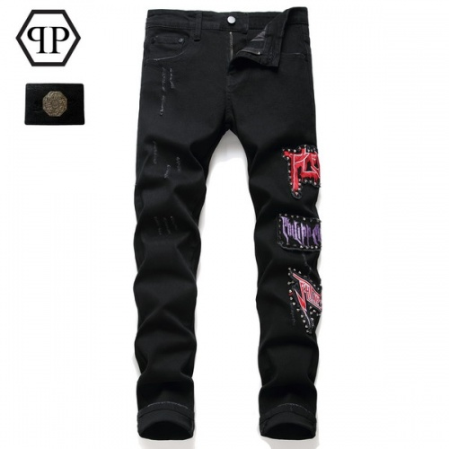 Philipp Plein PP Jeans Trousers For Men #794780 $52.38 USD, Wholesale Replica Philipp Plein PP Jeans