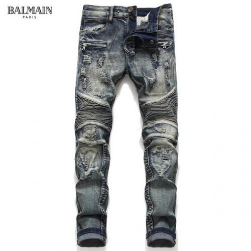 Balmain Jeans Trousers For Men #794785 $52.38 USD, Wholesale Replica Balmain Jeans