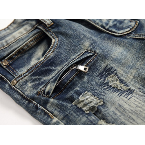 Replica Balmain Jeans Trousers For Men #794785 $52.38 USD for Wholesale