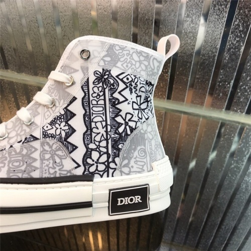 Replica Christian Dior High Tops Shoes For Women #795396 $77.60 USD for Wholesale