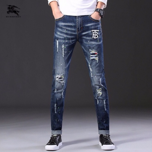 Replica Burberry Jeans Trousers For Men #796110 $43.65 USD for Wholesale