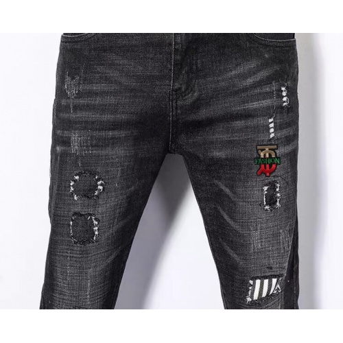 Replica Burberry Jeans Trousers For Men #796112 $43.65 USD for Wholesale