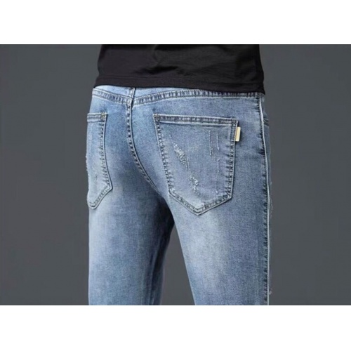 Replica Burberry Jeans Trousers For Men #796114 $43.65 USD for Wholesale