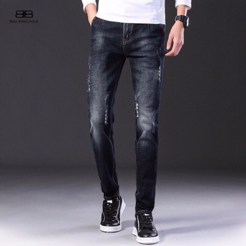 Replica Balenciaga Jeans Trousers For Men #796115 $43.65 USD for Wholesale