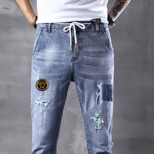 Replica Versace Jeans Trousers For Men #796116 $43.65 USD for Wholesale