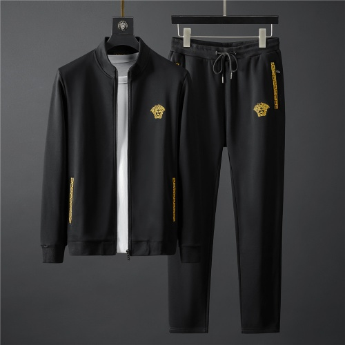 Versace Tracksuits Long Sleeved Zipper For Men #796841