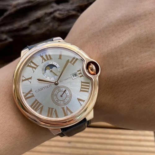 Replica Cartier AAA Quality Watches For Men #797290 $176.54 USD for Wholesale