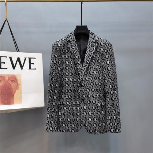 Fendi Jackets Long Sleeved Polo For Men #797354