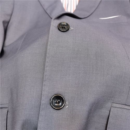 Replica Thom Browne Jackets Long Sleeved Polo For Men #797355 $83.42 USD for Wholesale