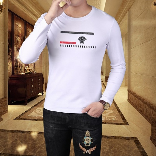 Replica Versace T-Shirts Long Sleeved O-Neck For Men #797415 $39.77 USD for Wholesale