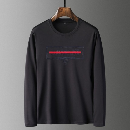 Armani T-Shirts Long Sleeved O-Neck For Men #797487