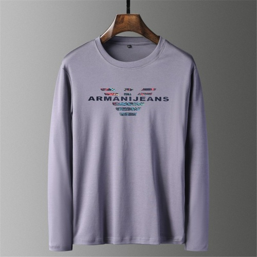 Armani T-Shirts Long Sleeved O-Neck For Men #797491