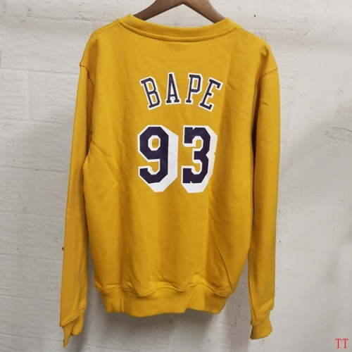 Replica Bape Hoodies Long Sleeved O-Neck For Men #797526 $39.77 USD for Wholesale