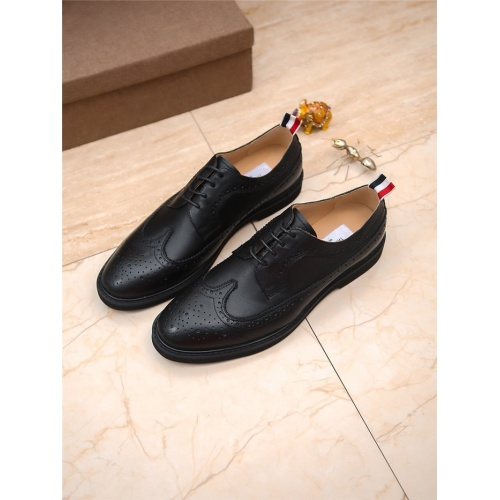 Thom Browne Leather Shoes For Men #797839 $85.36 USD, Wholesale Replica Thom Browne Leather Shoes