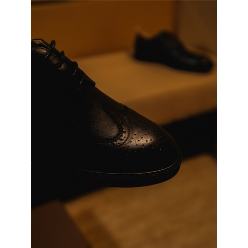 Replica Thom Browne Leather Shoes For Men #797839 $85.36 USD for Wholesale