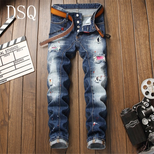 Dsquared Jeans Trousers For Men #798453 $46.56 USD, Wholesale Replica Dsquared Jeans