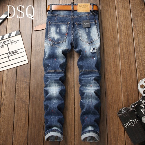 Replica Dsquared Jeans Trousers For Men #798453 $46.56 USD for Wholesale
