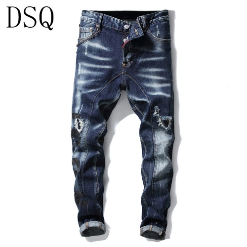 Dsquared Jeans Trousers For Men #798458 $46.56, Wholesale Replica Dsquared Jeans