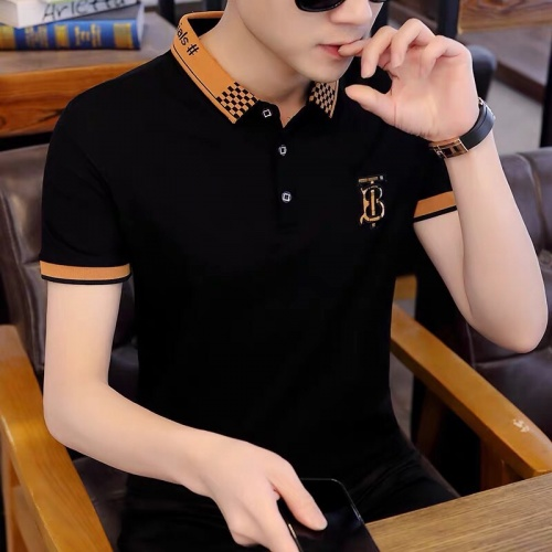 Burberry T-Shirts Short Sleeved Polo For Men #798488 $28.13, Wholesale Replica Burberry T-Shirts