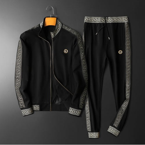 Versace Tracksuits Long Sleeved Zipper For Men #798528 $95.06 USD, Wholesale Replica Versace Tracksuits
