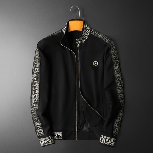 Replica Versace Tracksuits Long Sleeved Zipper For Men #798528 $95.06 USD for Wholesale