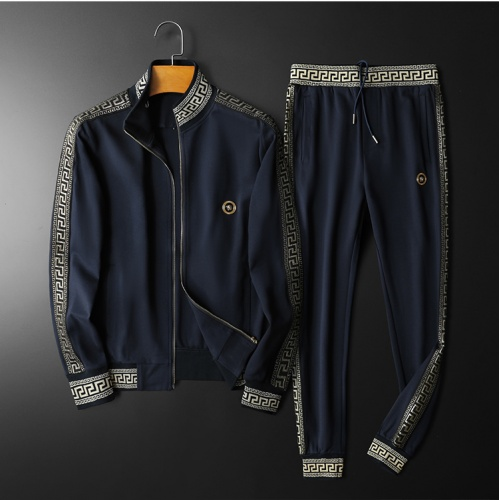 Versace Tracksuits Long Sleeved Zipper For Men #798529 $95.06, Wholesale Replica Versace Tracksuits