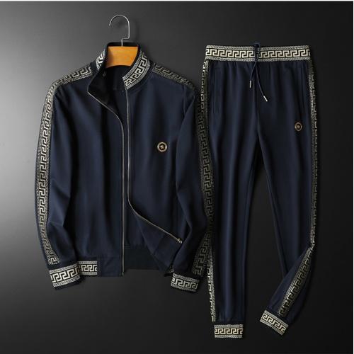 Versace Tracksuits Long Sleeved Zipper For Men #798529