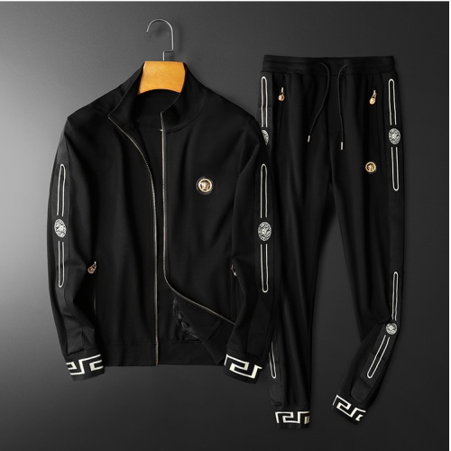 Versace Tracksuits Long Sleeved Zipper For Men #798530