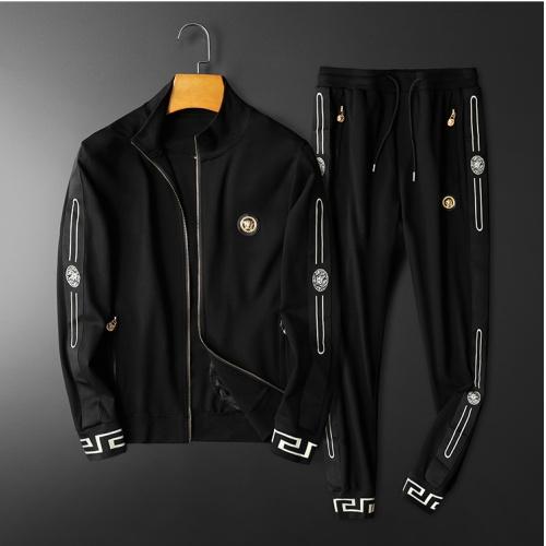 Versace Tracksuits Long Sleeved Zipper For Men #798530