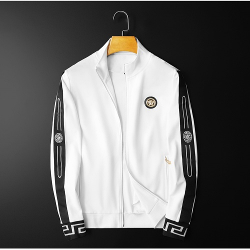 Replica Versace Tracksuits Long Sleeved Zipper For Men #798531 $95.06 USD for Wholesale
