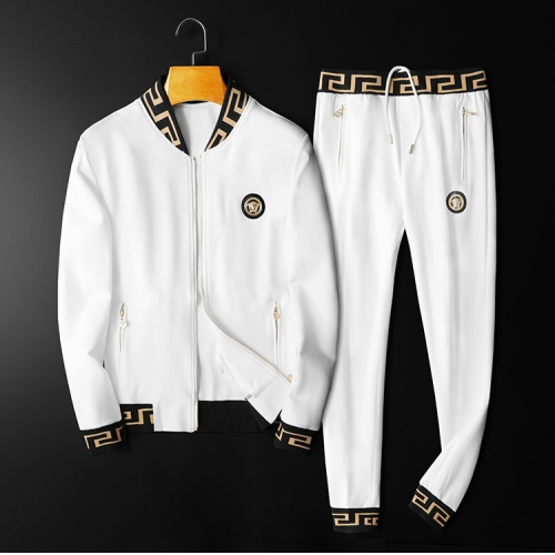 Versace Tracksuits Long Sleeved Zipper For Men #798533 $95.06, Wholesale Replica Versace Tracksuits
