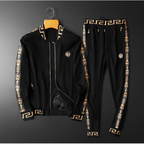 Versace Tracksuits Long Sleeved Zipper For Men #798537