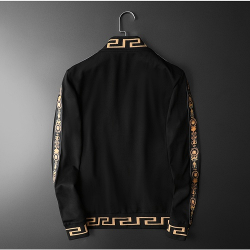Replica Versace Tracksuits Long Sleeved Zipper For Men #798537 $95.06 USD for Wholesale