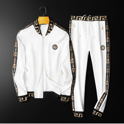 Versace Tracksuits Long Sleeved Zipper For Men #798538