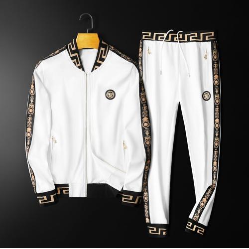 Versace Tracksuits Long Sleeved Zipper For Men #798538