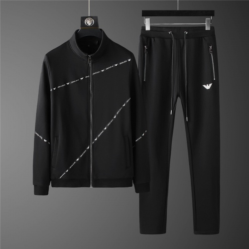 Armani Tracksuits Long Sleeved Zipper For Men #798817