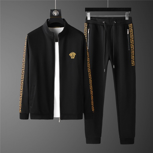 Versace Tracksuits Long Sleeved Zipper For Men #798826
