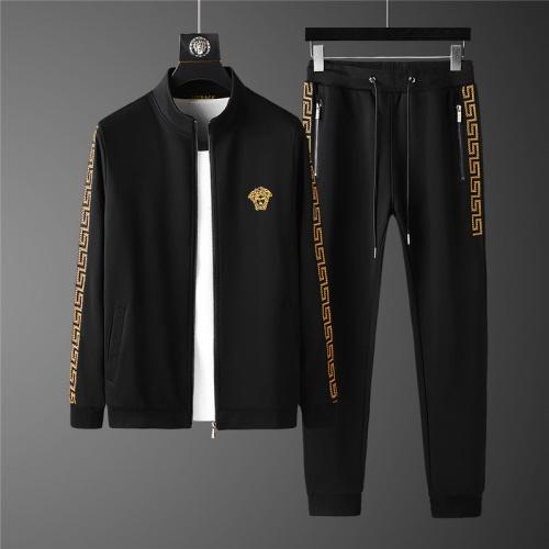 Versace Tracksuits Long Sleeved Zipper For Men #798826