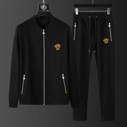 Versace Tracksuits Long Sleeved Zipper For Men #798827