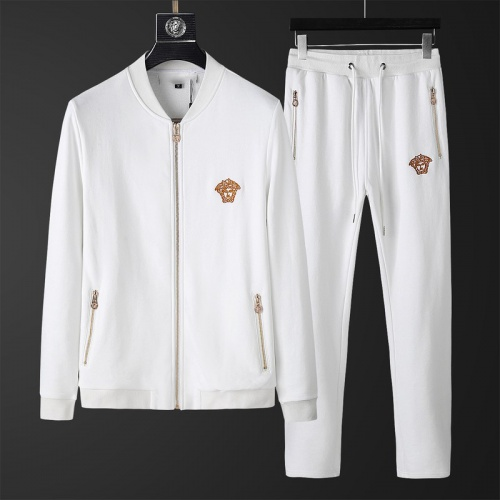 Versace Tracksuits Long Sleeved Zipper For Men #798828
