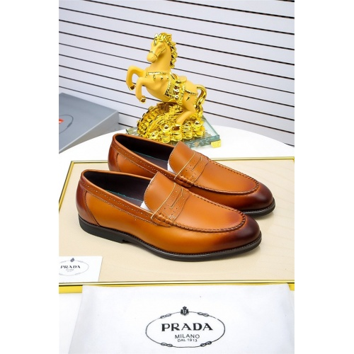 Prada Leather Shoes For Men #798931 $73.72 USD, Wholesale Replica Prada Leather Shoes